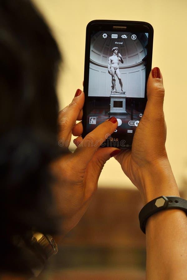 Mobilny widok David obraz stock
