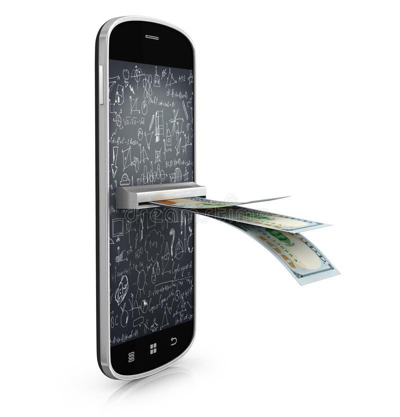 Mobilt betala sistembegrepp, royaltyfri fotografi