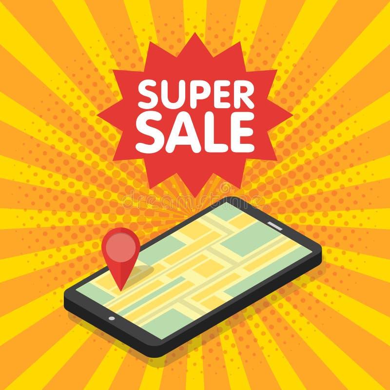 mobilt digitalt begrepp för marknadsföring 3d stock illustrationer