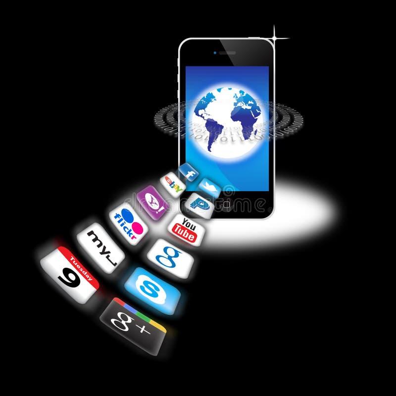 mobilt nätverk s för apps i dag vad som är din royaltyfri illustrationer