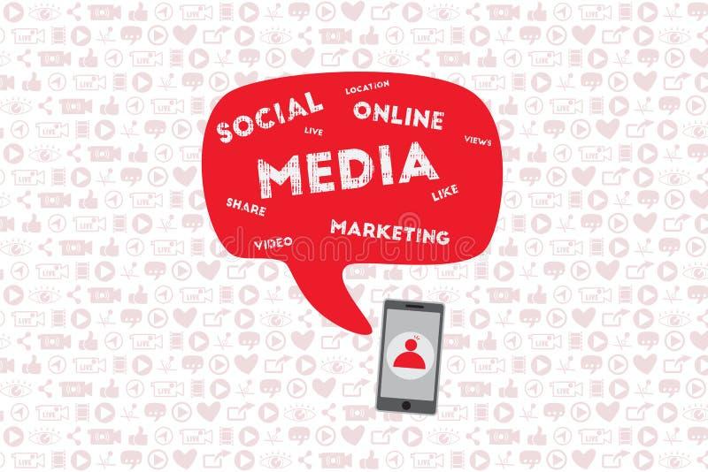 Mobilt och online-marknadsföringsbegrepp vektor illustrationer