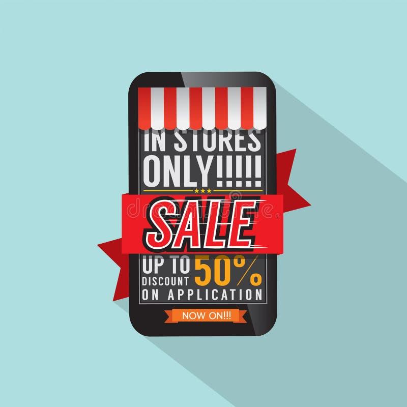 Mobilt shoppingbegrepp vektor illustrationer
