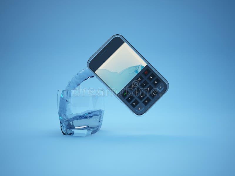 mobilt vatten royaltyfria bilder