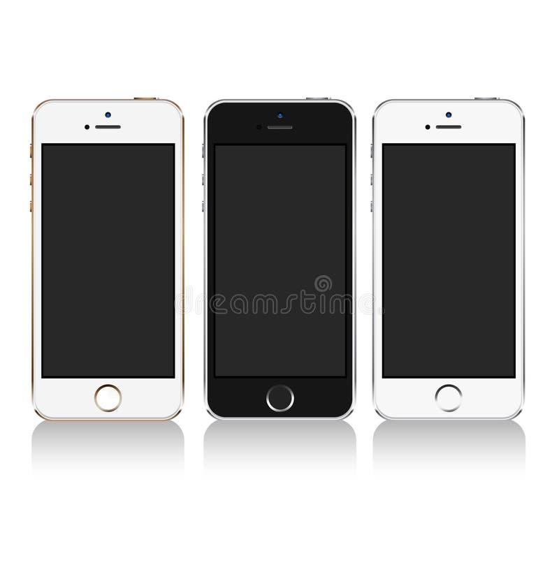 Mobiltelefon stock illustrationer
