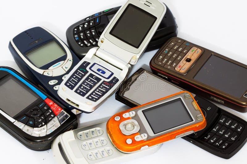 Mobiltelefon eller mobiltelefon royaltyfri bild