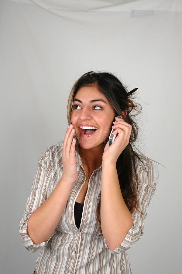 mobiltelefon för affärskvinna 3 arkivfoto