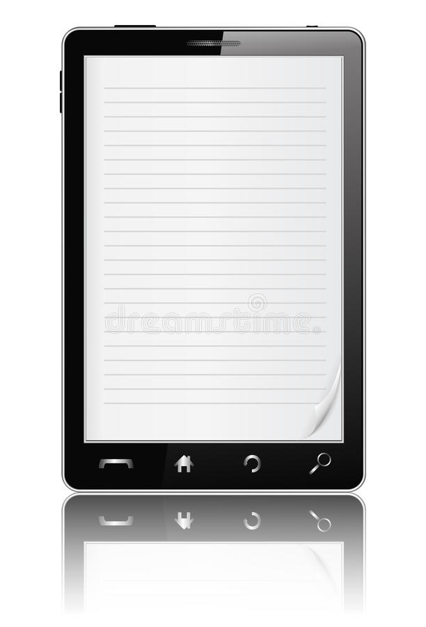 mobiltelefon för bok e royaltyfri illustrationer