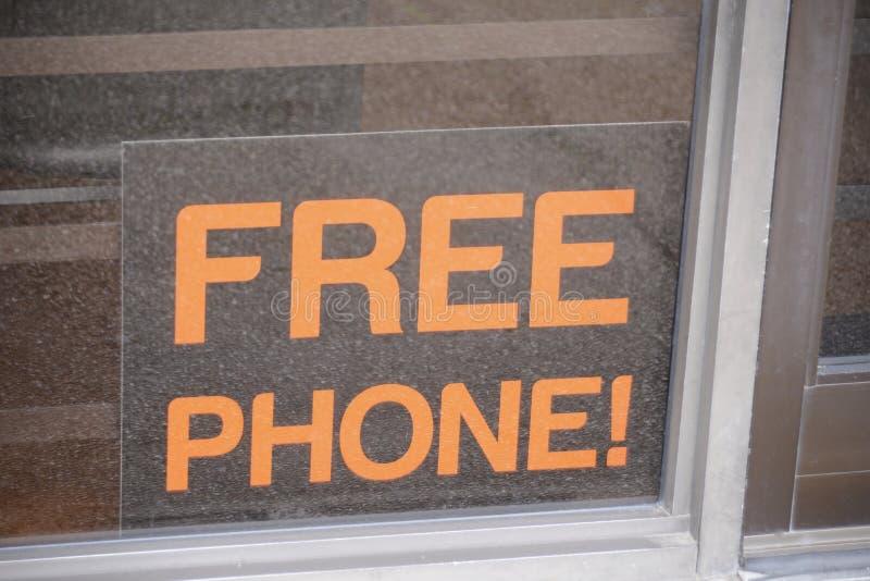 Mobiltelefon für freies mit Service lizenzfreie stockfotos