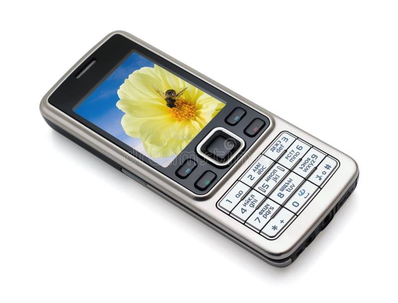 Mobiltelefon getrennt lizenzfreies stockbild