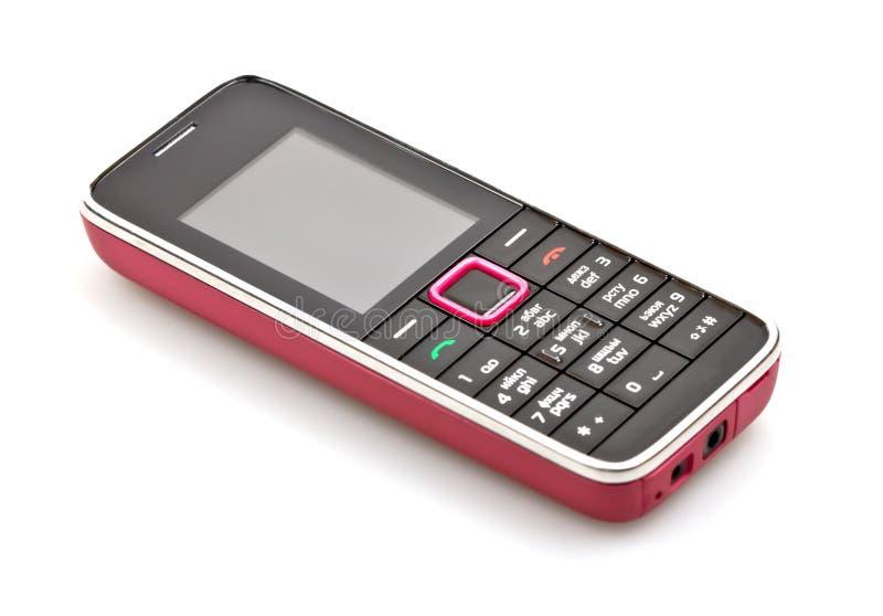 Mobiltelefon getrennt auf Weiß lizenzfreies stockfoto