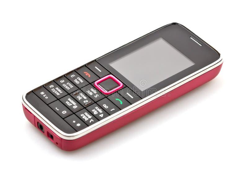 Mobiltelefon getrennt auf Weiß stockfotos