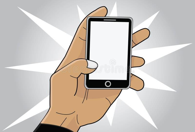 Download Mobiltelefon i hand stock illustrationer. Illustration av block - 37349377