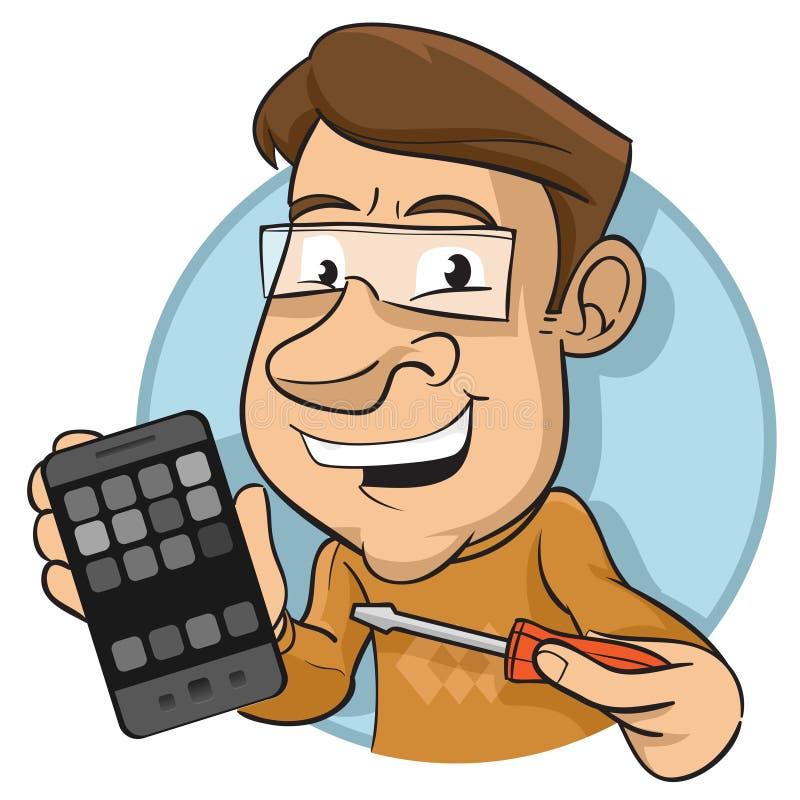 Mobiltelefon-Mechaniker stock abbildung
