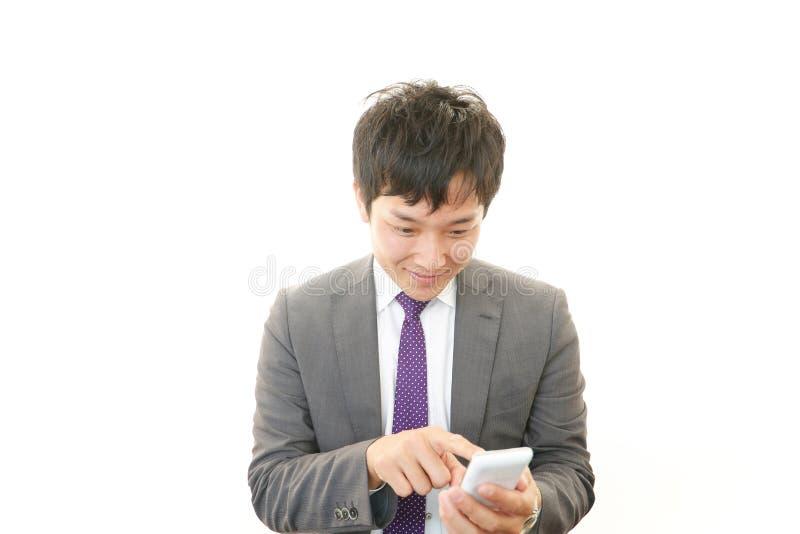 Download Mobiltelefon Och Affärsman. Arkivfoto - Bild av mänskligt, enjoying: 37347386