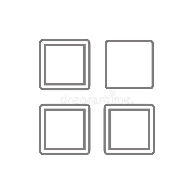 Mobiltelefonapp-symbol Beståndsdel av cybersäkerhet för mobilt begrepp och rengöringsdukappssymbol Tunn linje symbol för websited vektor illustrationer