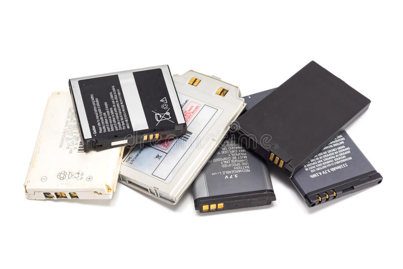 Mobiltelefonbatteri arkivbild