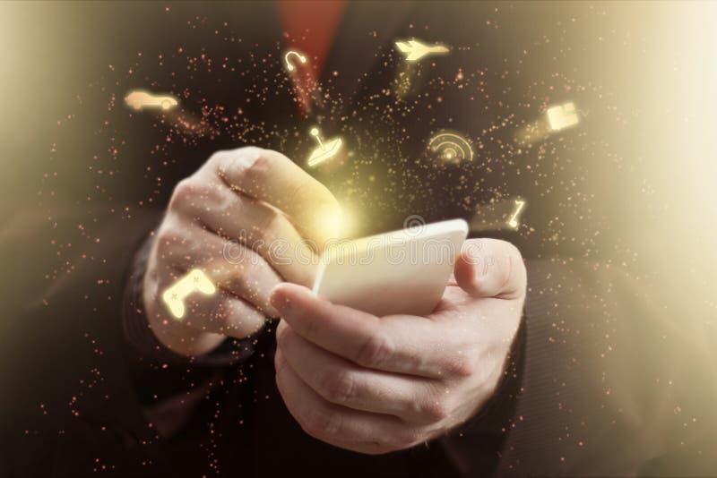 Mobiltelefondobbel royaltyfria foton