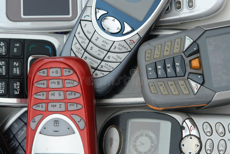 mobiltelefoner royaltyfri foto