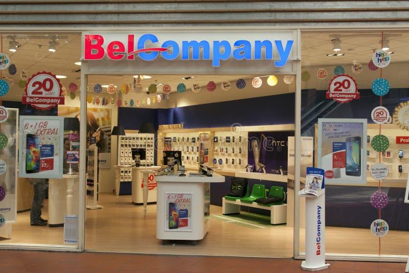 Mobiltelefoner för Belcompany lager fot i Haag royaltyfri foto