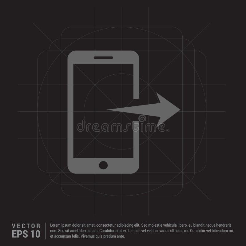 Mobiltelefonsymbol stock illustrationer
