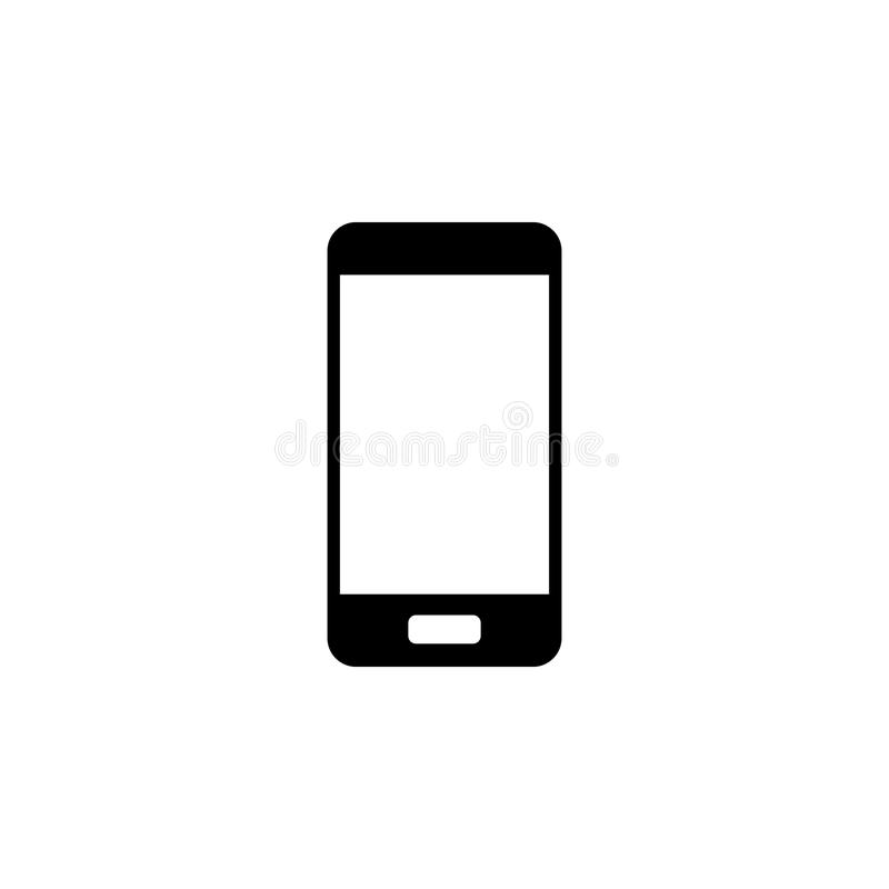Mobiltelefonsymbol Beståndsdel av rengöringsduksymbolen för mobila begrepps- och rengöringsdukapps Den isolerade mobiltelefonsymb arkivbild