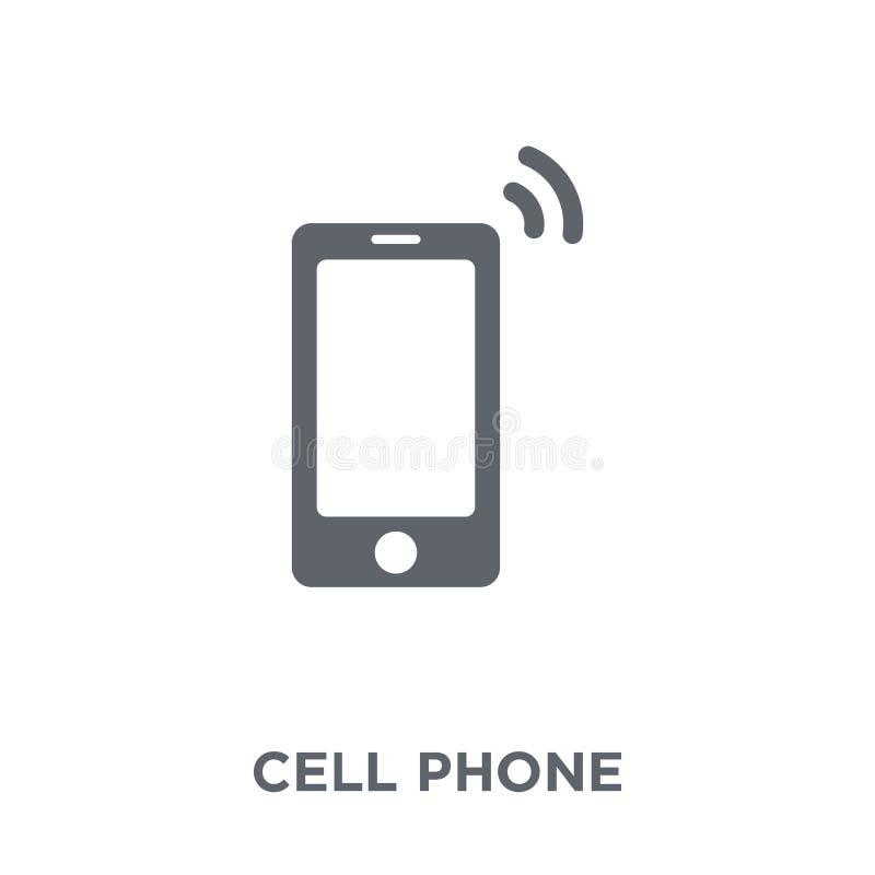 mobiltelefonsymbol från samling för elektroniska apparater royaltyfri illustrationer