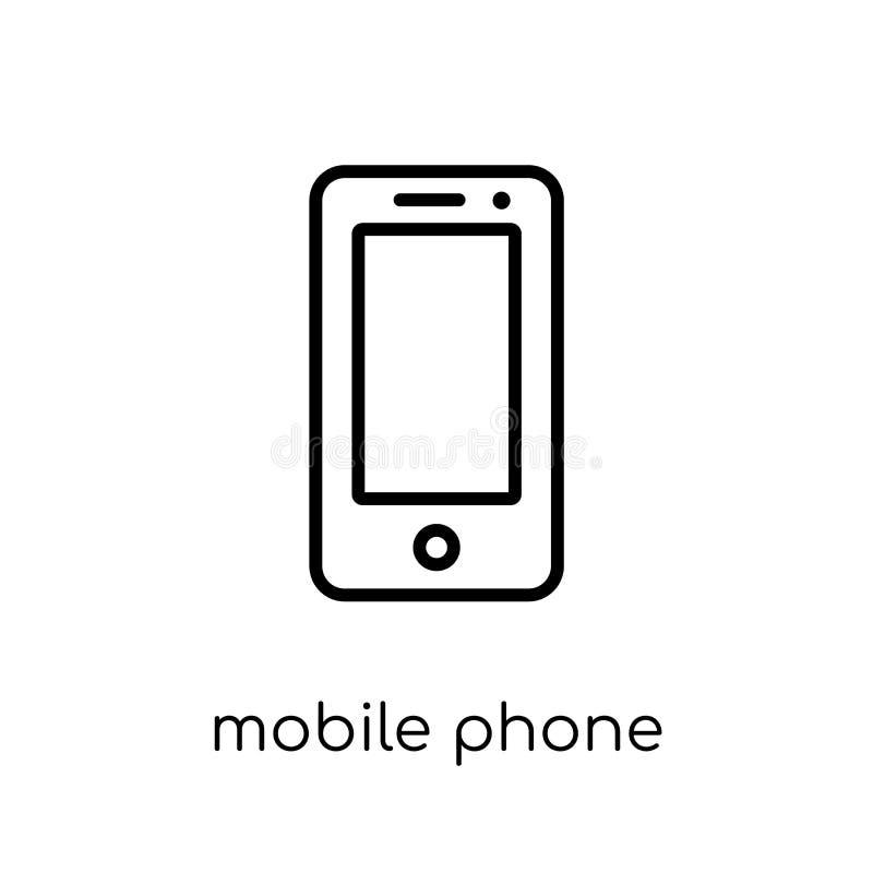 Mobiltelefonsymbol från samling för elektroniska apparater stock illustrationer