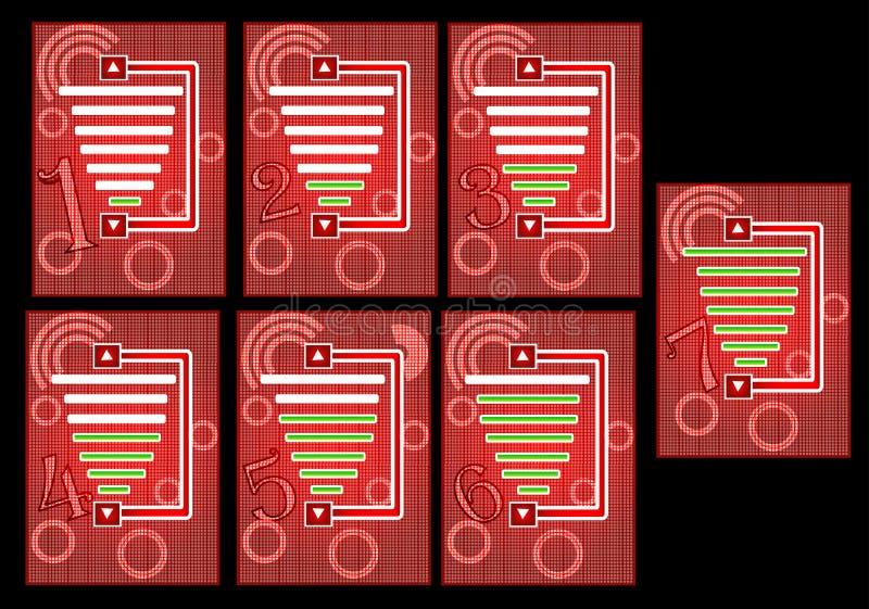 mobiltelefonvolym stock illustrationer