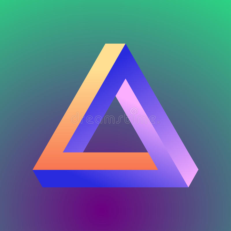 Mobius三角形象 皇族释放例证