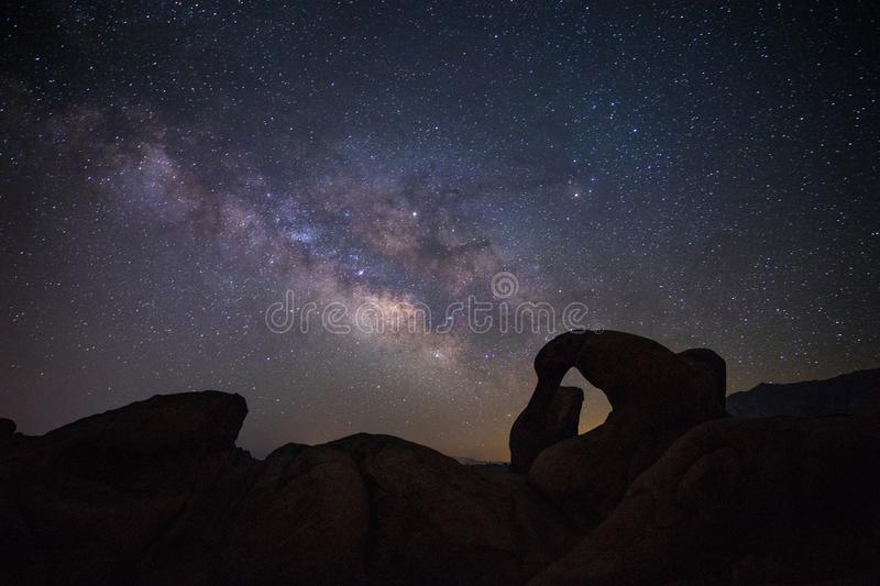 Mobius Arch in Alabama Hills royalty free stock images