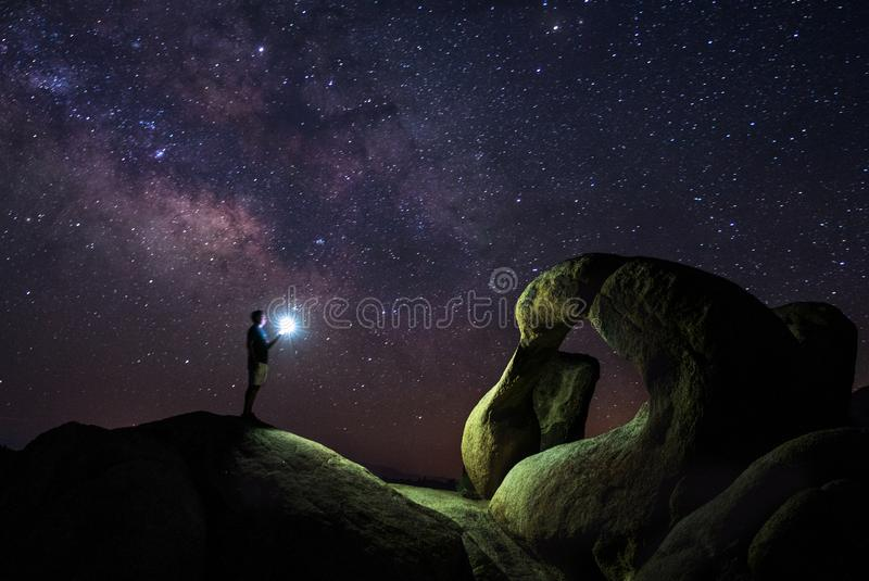 Mobius Arch in Alabama Hills royalty free stock photo