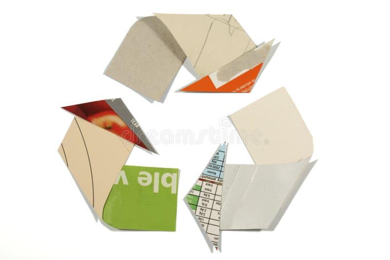 The Mobius Loop recycling symbol stock photos
