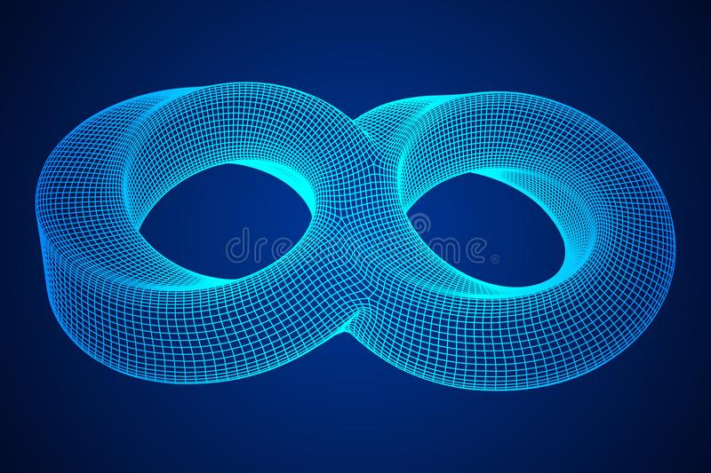 Mobius strip ring infinity sacred geometry stock illustration