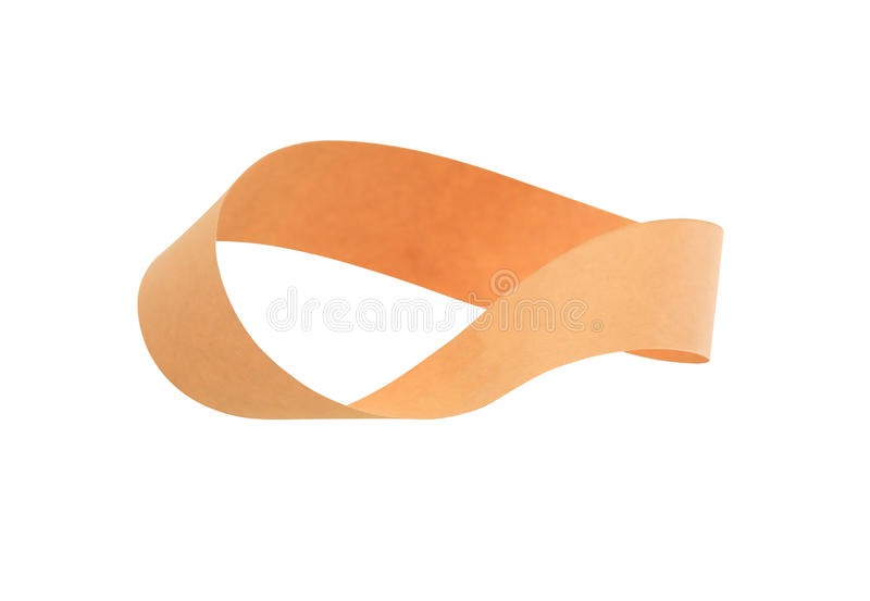 Mobius Strip On White. Mobius strip made from paper on white background. Isolated with clipping path stock photos