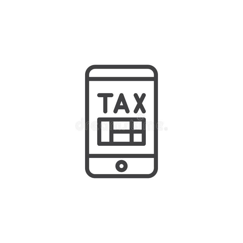 Moblie税薪水概述象 皇族释放例证