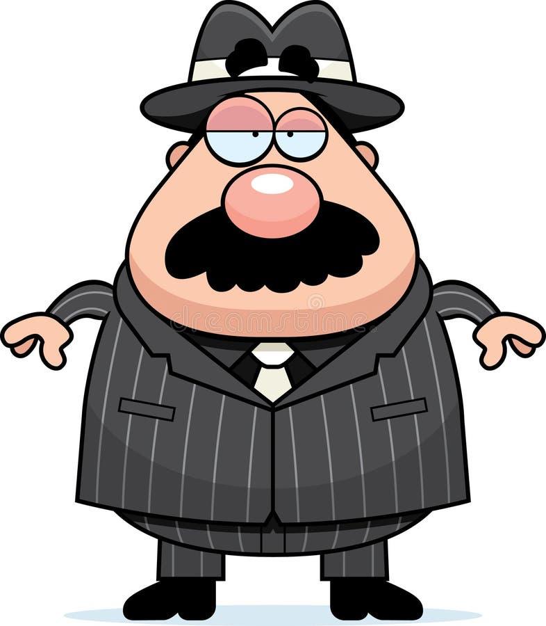 Download Mobster Boss stock vector. Image of fedora, mustache - 12562687