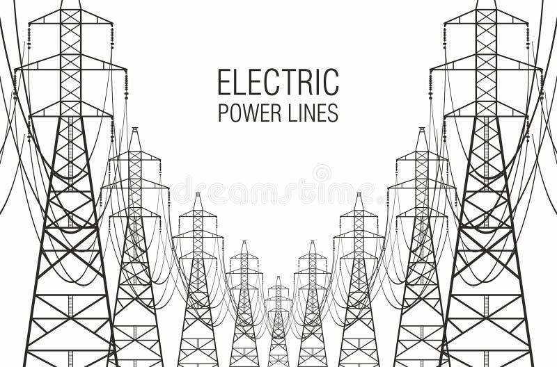 moc linii elektrycznych ilustracja wektor