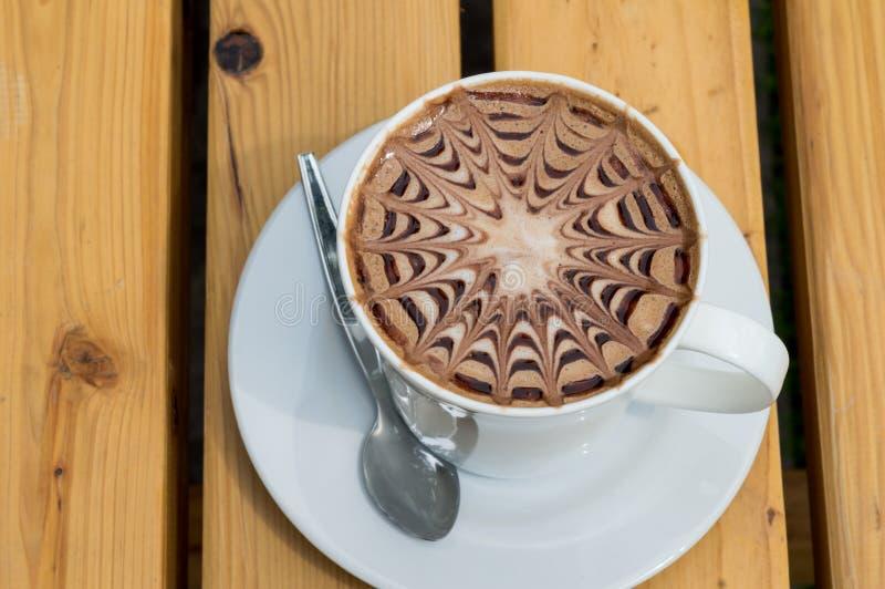 Moca della tazza di caffè del primo piano fotografia stock libera da diritti