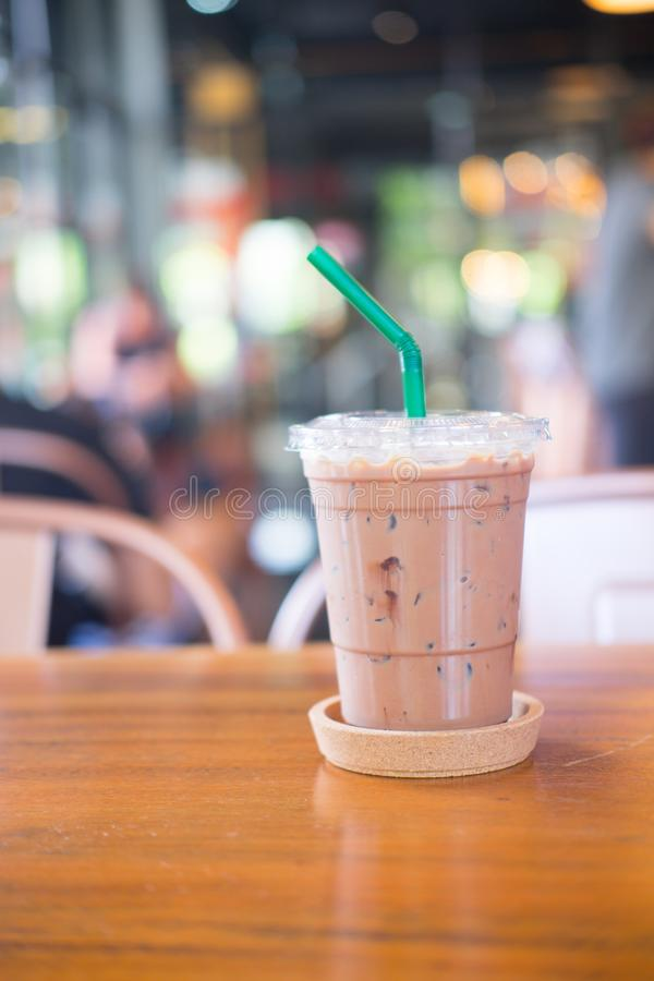 Moca ghiacciata fresca del caffè fotografie stock