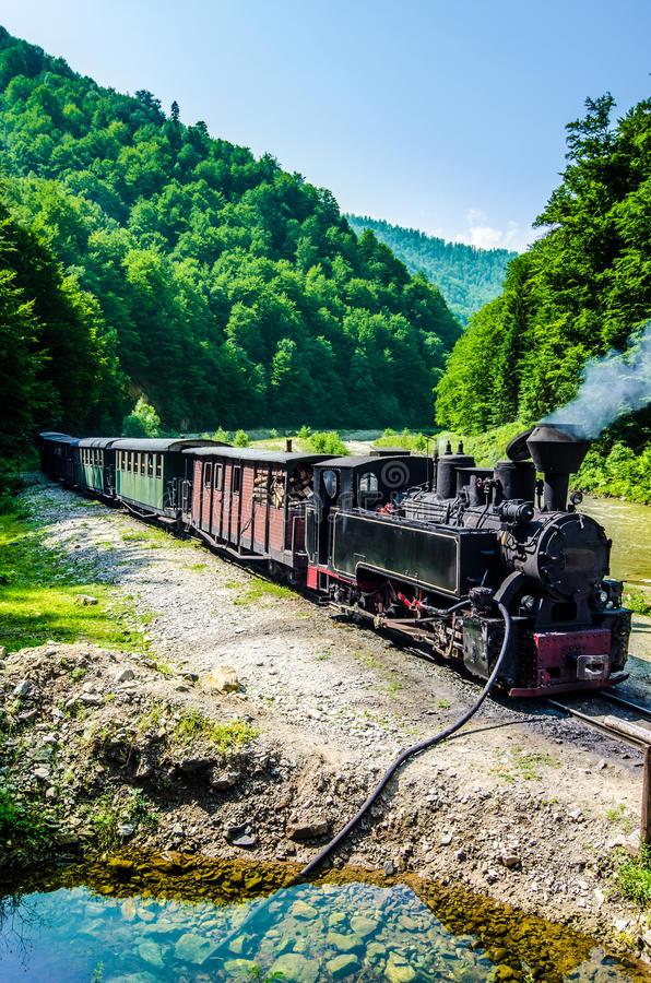 Mocanita train in Vaser Valley, Maramures stock photo