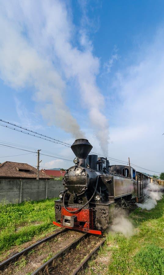 Mocanita train in Vaser Valley, Maramures stock photos