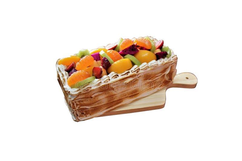 Mocca плодоовощ торта стоковое изображение rf