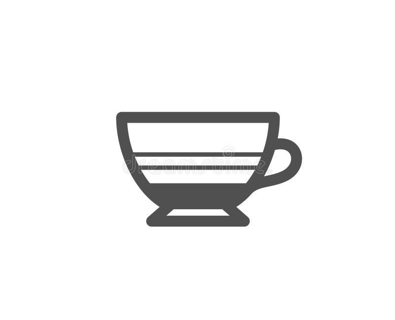 Mocha coffee icon. Hot drink sign. royalty free illustration
