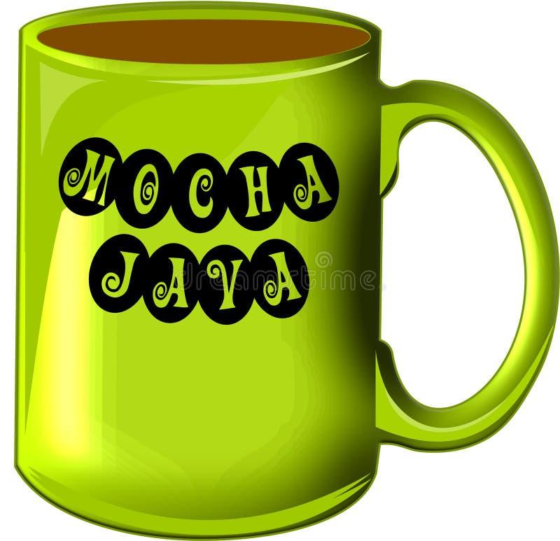Mocha Java do copo de café imagens de stock royalty free
