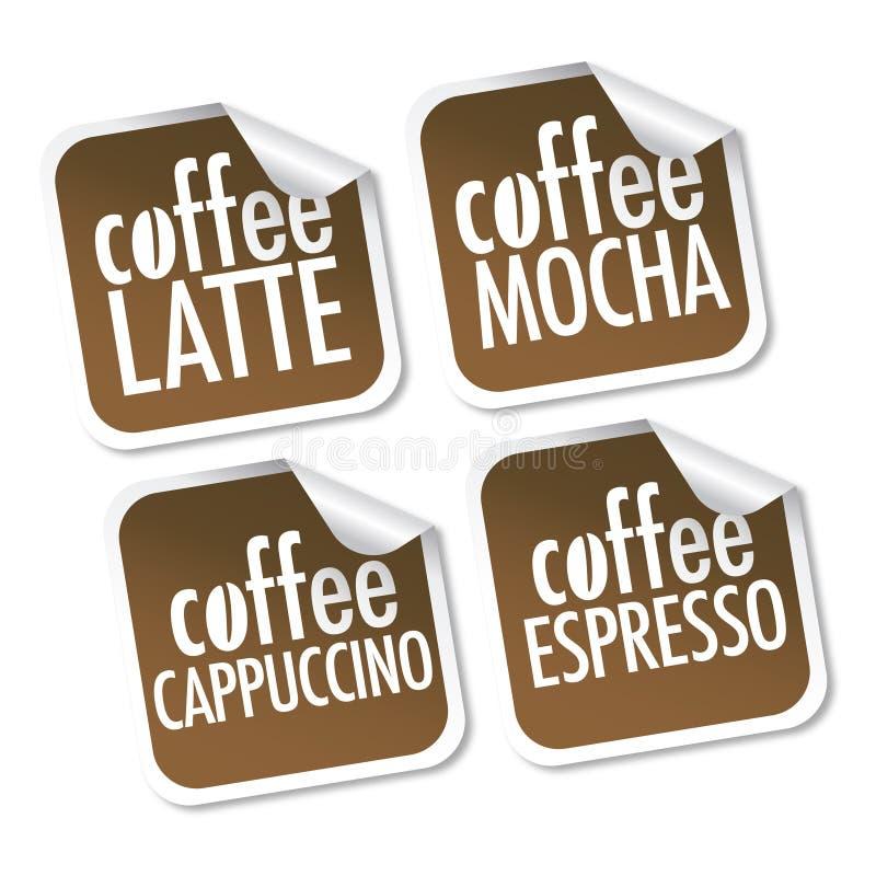 mocha latte espresso кофе капучино иллюстрация вектора