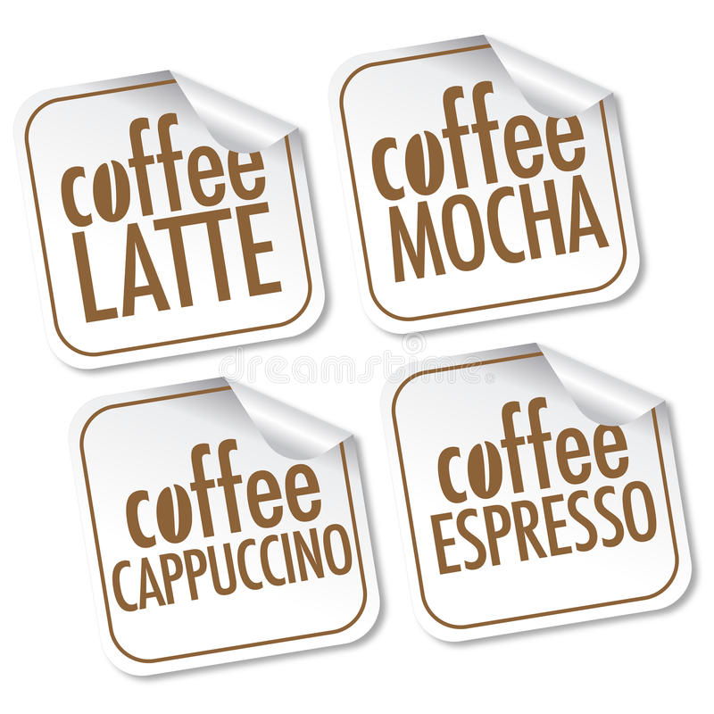 mocha latte espresso кофе капучино иллюстрация штока