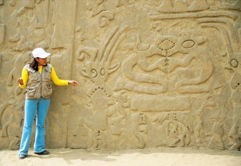 moche цивилизаций chimu в trujillo стоковое изображение rf