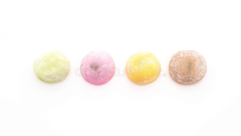 Mochi del dessert su bianco immagini stock libere da diritti