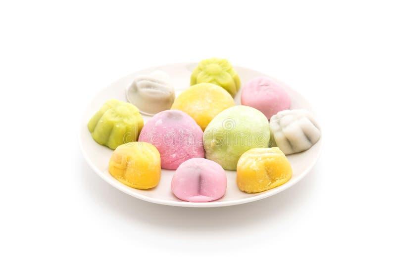 Mochi del dessert su bianco fotografie stock libere da diritti