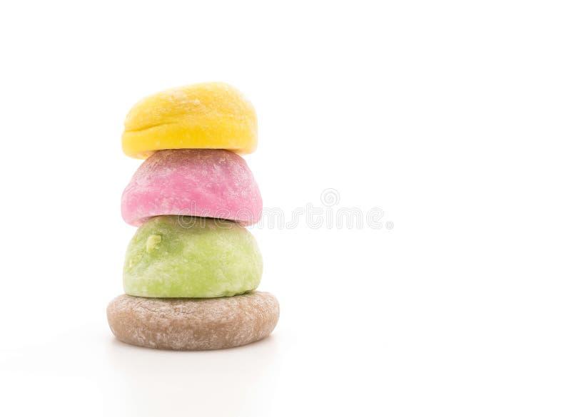 Mochi del dessert su bianco fotografia stock
